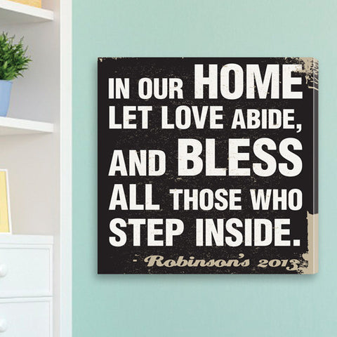 Antique Style Personalized Prayer Canvas