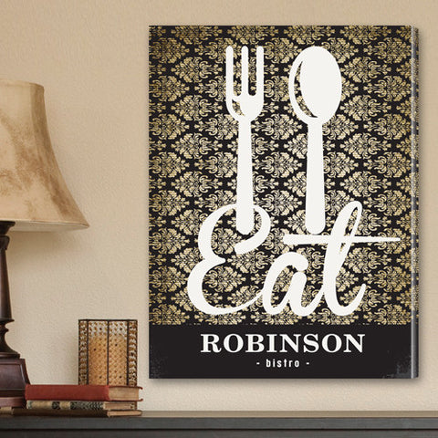 Personalized Bistro Sign Canvas