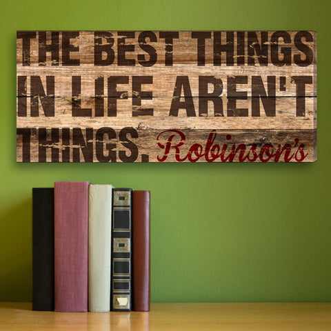 Best Things In Life Personalized Canvas Print