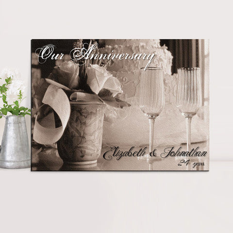 Personalized Couples Canvas Print - Our Anniversary