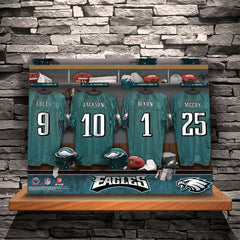 Personalized NFL Locker Room Canvas Prints