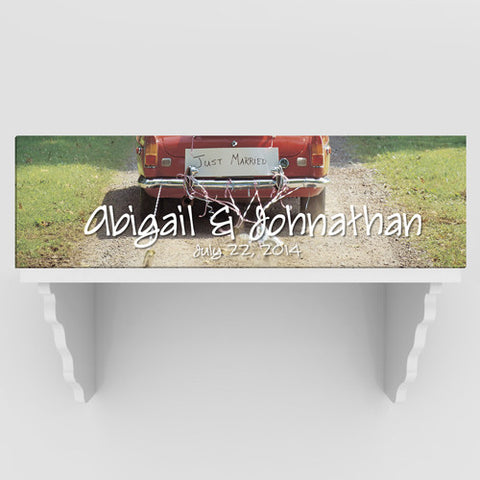 Personalized Just Married Canvas Prints