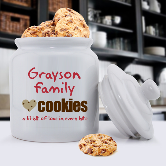 Personalized Ceramic Cookie Jars - Family Cookies