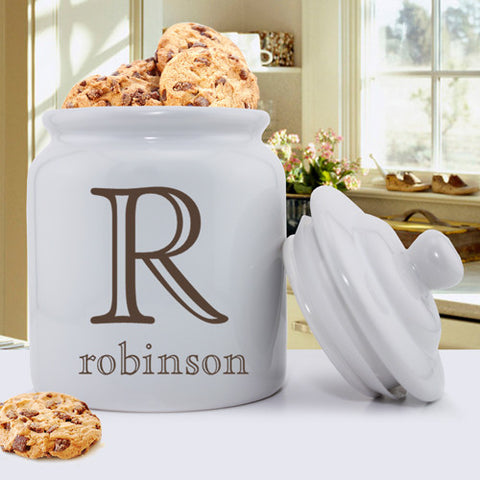 Personalized Ceramic Cookie Jars - Family Name