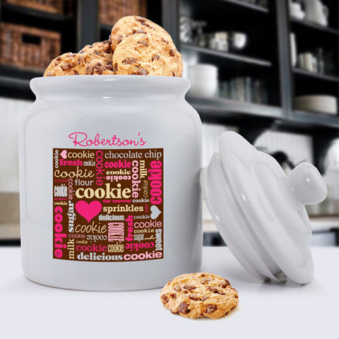 Personalized Ceramic Cookie Jars - Love Cookies!