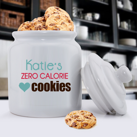 Personalized Ceramic Cookie Jars - Zero Calories