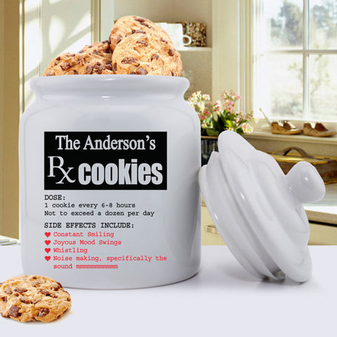 Personalized Ceramic Cookie Jars - Prescription for Smiles