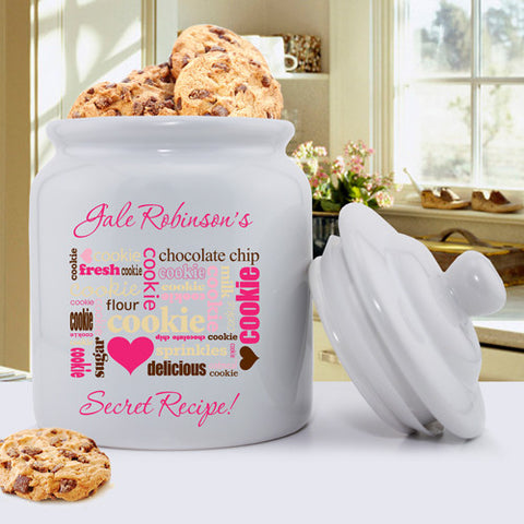 Personalized Ceramic Cookie Jars - Secret Recipe