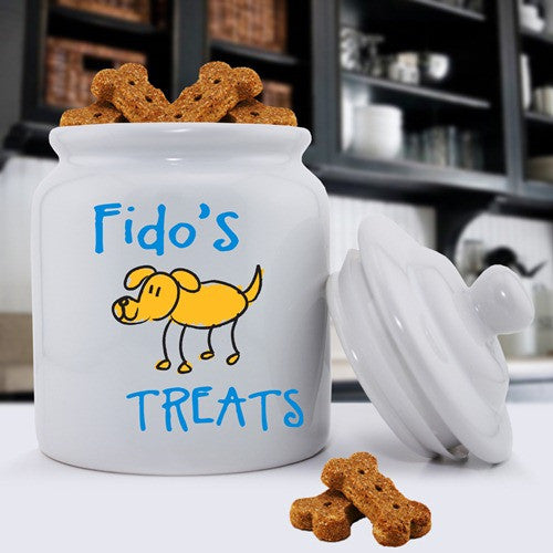 Ceramic Dog Treat Jar