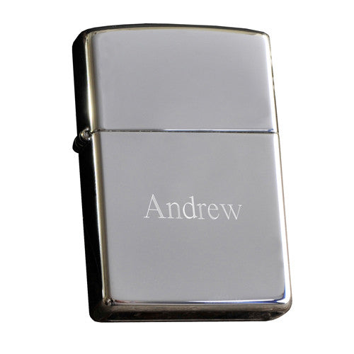 Personalized High Polish Chrome Zippo Lighter