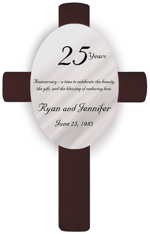 Personalized 25 Years Anniversary Cross