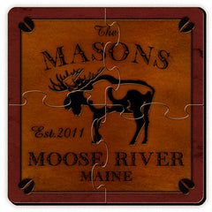 Personalized Cabin Series Coaster Puzzle