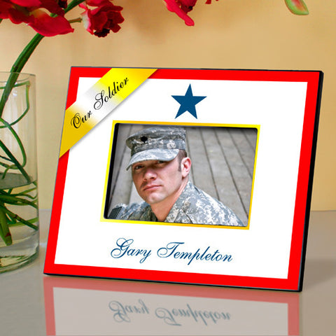 Personalized Blue Star Military Family Frame