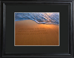 Personalized Sparkling Sands Print with Wood Frame