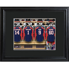 Personalized NHL Locker Room Print with Wood Frame