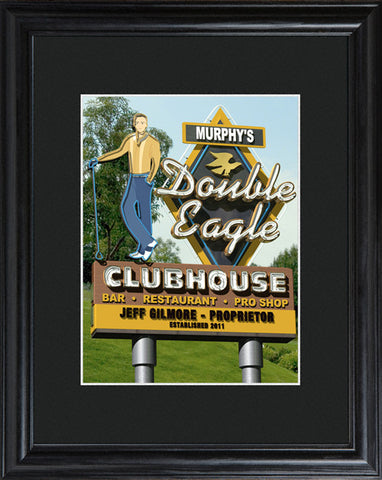 Personalized Marquee Double Eagle Framed Print