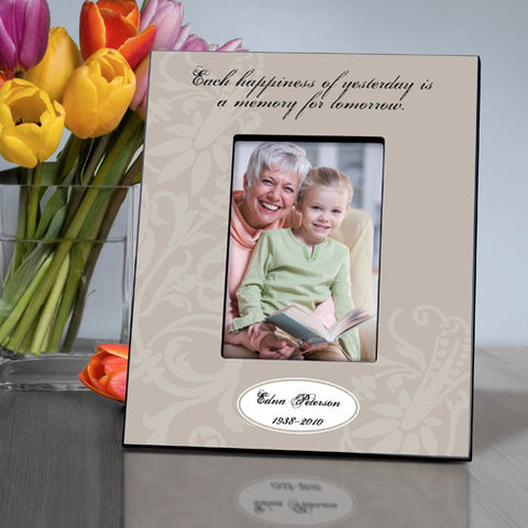 Personalized Each Happiness Memorial Picture Frame