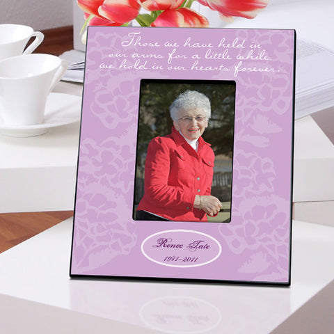 Personalized In Our Hearts Memorial Picture Frame