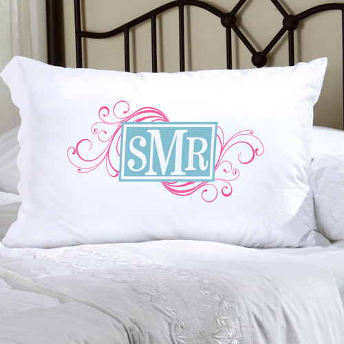 Personalized Felicity Cheerful Monogram Pillow Case