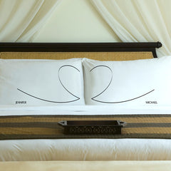 Personalized Couples Pillow Case Sets - Heartstrings