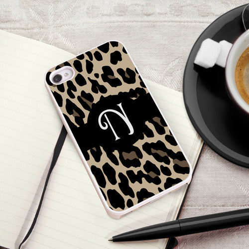 Luscious Leopard iPhone Case with White Trim
