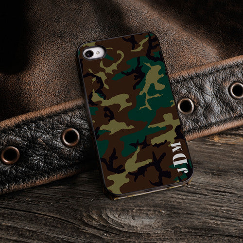 Camouflage iPhone Case with Black Trim