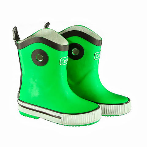 Green Wellies / Gumboots with Pull-up, by CeLaVi