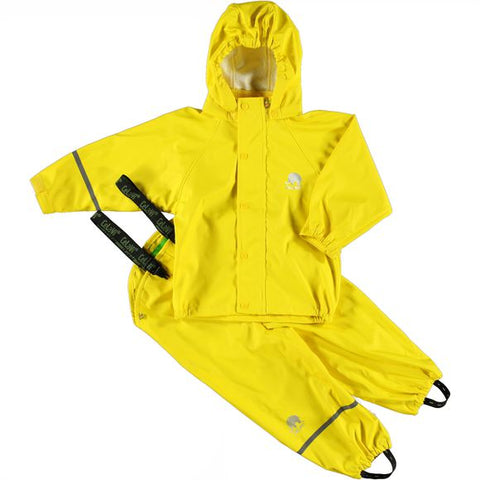 Basic Rainwear Set (Jacket & Pants) in Yellow, by CeLaVi