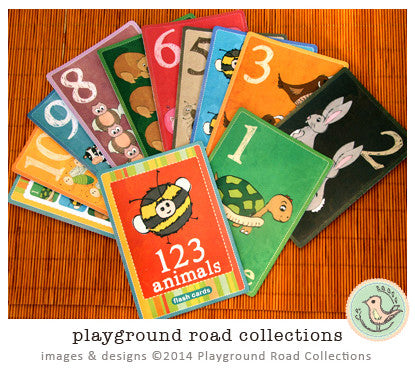 Flash Cards - 123, by Playground Road Collections