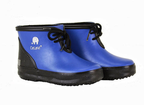 Basic Low Wellies / Gumboots 2-coloured (Blue/Black), by CeLaVi