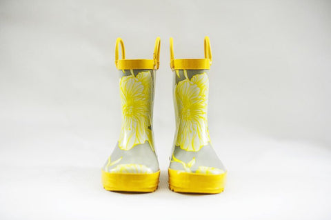 Girls Gumboots (Floral Sunshine), by Frankie & Lola ***Limited Sizes - 7 & 8***