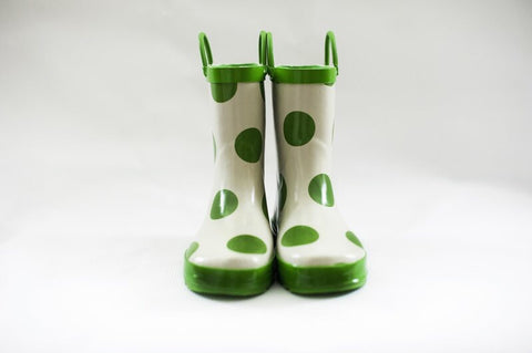 Girls Gumboots (Green Spots), by Frankie & Lola ***Limited Sizes - 12 only***