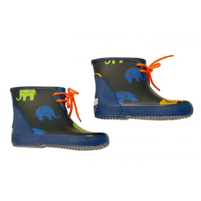 Toddler Elephent Gumboots -Short (Navy) by CeLaVi Image