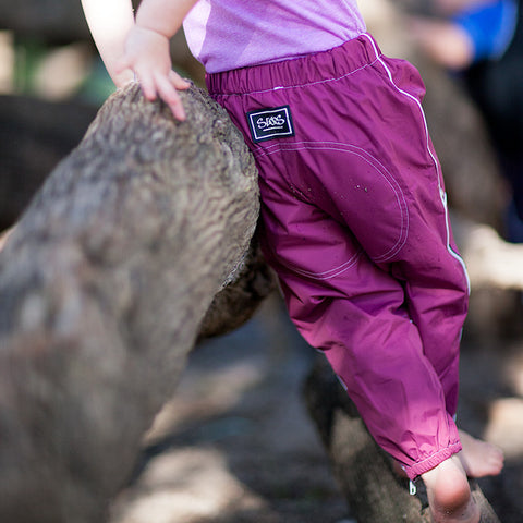 Berry Waterproof Pants - Slicks Zippers by Run Jump Splash Play
