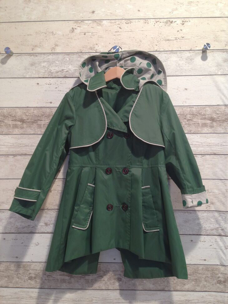 Frankie & Lola Girls Rainjacket - Green *** Limited Size 1 only***