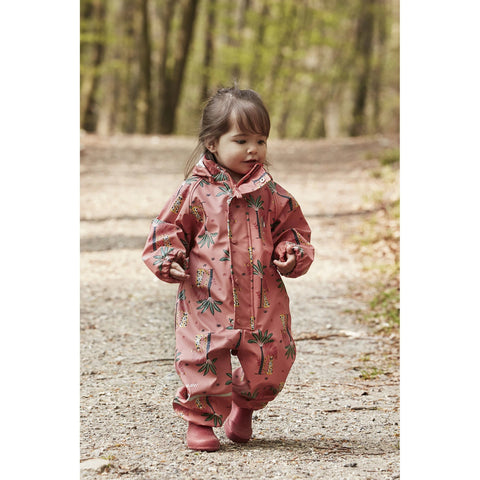 Rainsuit in Baked Apple Palm Print, by CeLaVi