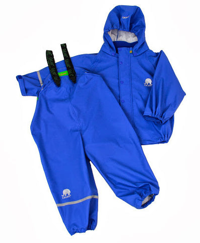 Basic Rainwear Set (Jacket & Pants) in Ocean Blue, by CeLaVi