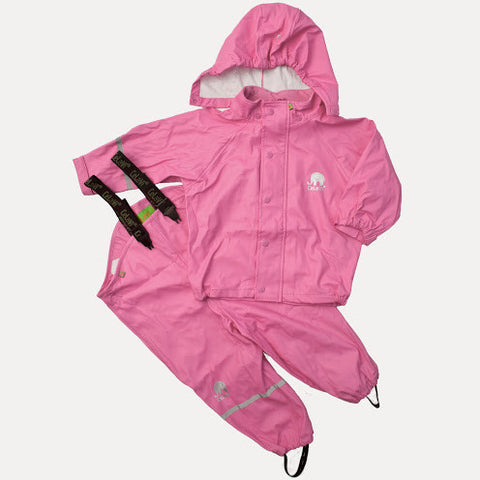 Basic Rainwear Set (Jacket & Pants) in Pink, by CeLaVi