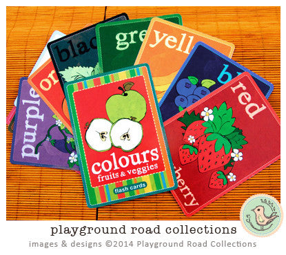 Flash Cards - Colour, by Playground Road Collections