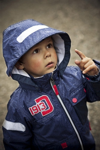 Sage Kids Jacket (Navy) by Didriksons ***Limited Sizes - Size 120 only***