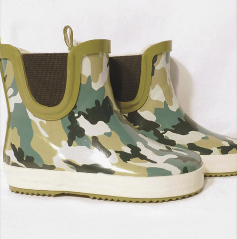 Camo Gumboots, by Frankie and Lola