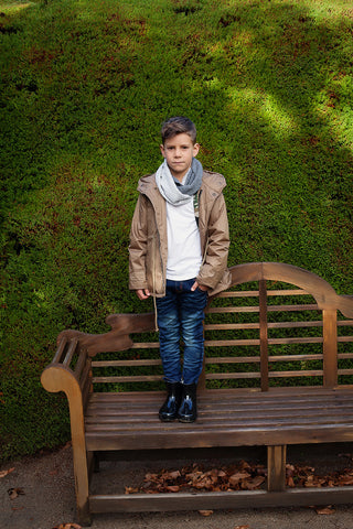Boys Rain Jacket in Toffee, by Frankie & Lola ***Limited sizes***