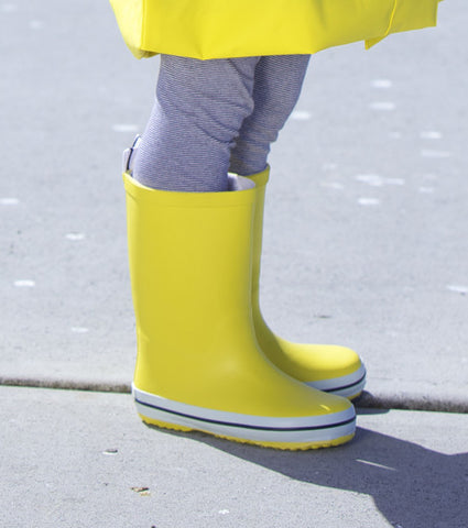 Kids Rubber Gumboots - Yellow, by French Soda