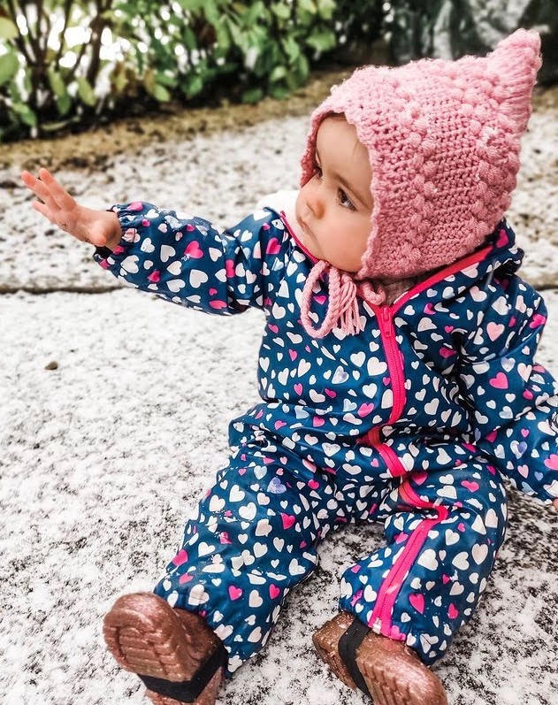 **NEW** Sherpa Lined Confetti Hearts Colour Changing Rainsuit, by Hatley