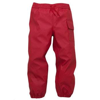 Kids Waterproof Splash Pants - Red, by Hatley