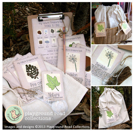Nature Treasure Hunt Kit, by Playground Road Collections