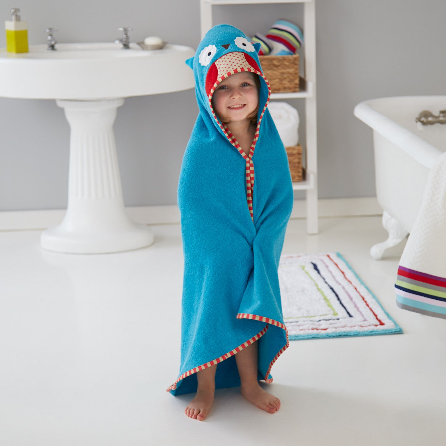 Boy in Zoo Skip Hop Hooded Owl Towel