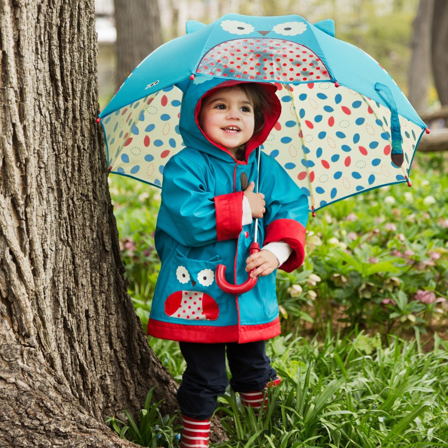 Zoo Little Kids Raincoat - Owl, by Skip Hop