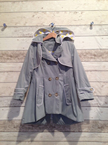 Frankie & Lola Girls Rainjacket - Dove Grey *** Size 1 only available***