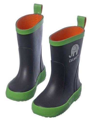 Boys Wellies / Gumboots (Brown/Green), by CeLaVi Image